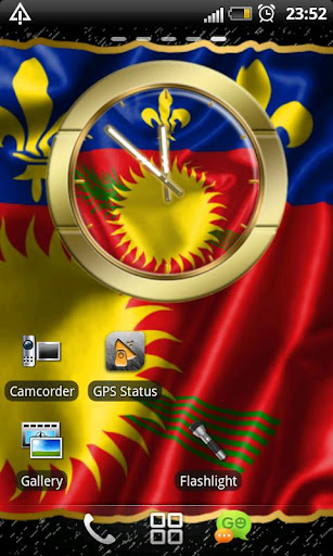 Guadeloupe flag clocks