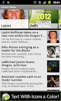 Screenshot of Oregon Ducks Football