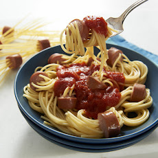 Spaghetti Hot Dogs