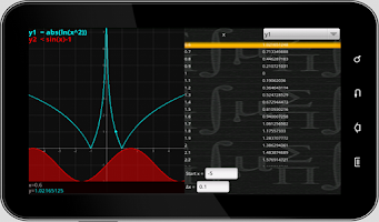 Screenshot of MathPac+ Graphing Calculator