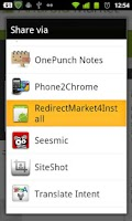 Screenshot of RedirectAndroidMarket4Install