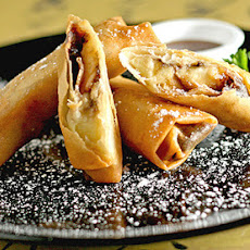 Banana Chocolate Spring Rolls