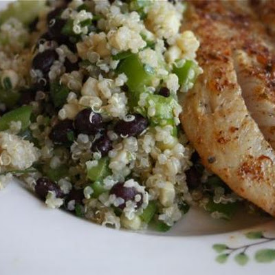 Chili-rubbed Fish With Quinoa, Corn And Black Bean Salad