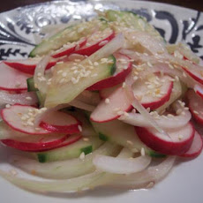 Japanese Style Cucumber and Radish Salad