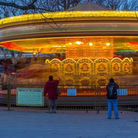 The Carousel by Vic Casambros - City,  Street & Park  Amusement Parks ( exposure, merry, london, carousel, round, long, go )
