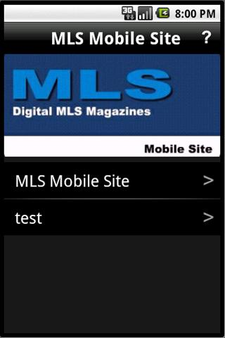MLS Mobile Site Test 1