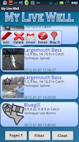 Screenshot of My Fishing Journal Widget