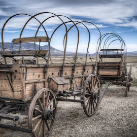 Wagons Ho! by Sean Camp - Artistic Objects Industrial Objects ( idaho, history, wagon wheel, wagon, western, historical, historic, west,  )