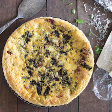 Caramelised Onion, Goats Cheese & Cauliflower Quiche