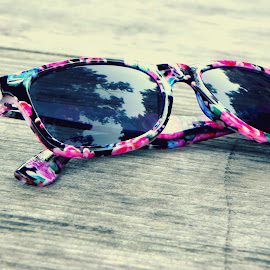 Keep me away from the sun by Magdalena Dedić - Artistic Objects Other Objects ( nature, glasses, sunglasses, sun )