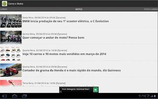 Screenshot of Carros e motos - Notícias