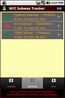 Screenshot of NYC Subway Time all Train Line