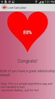 Screenshot of Love Calculator - Love Test