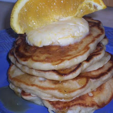 Banana Macadamia Nut Pancakes With Orange Butter