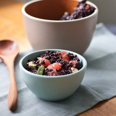 Black Rice Salad with Avocado and Grapefruit