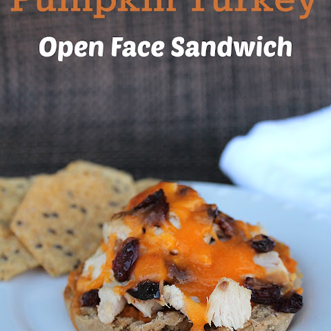 Pumpkin Turkey Open Face Sandwiches