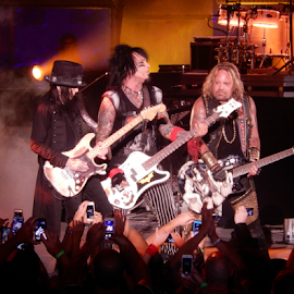 Mick Mars, Nikki Sixx & Vince Neil by Deborah Russenberger - People Musicians & Entertainers ( music, rock )