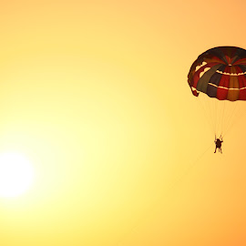 Sky Gliding over Adria by Augustin Anic - Sports & Fitness Other Sports ( sky, sunset, croatia, summer, sea,  )