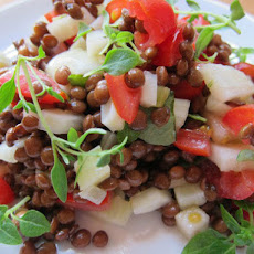 Bright Lentil Salad with Apples, Fennel, and Herbs