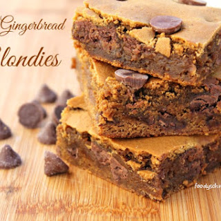 Caramel Gingerbread Blondies featuring Nestle Toll House DelightFulls