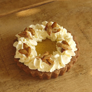 Maple Pumpkin Pie with Toasted Pumpkin Seeds and Spelt Crust