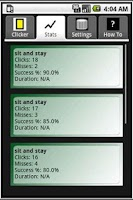 Screenshot of ClickStats Clicker Training