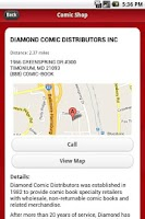 Screenshot of Comic Shop Locator