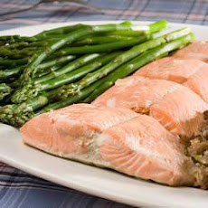 Salmon Poached in White Wine