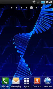 3D Android DNA LWP - screenshot