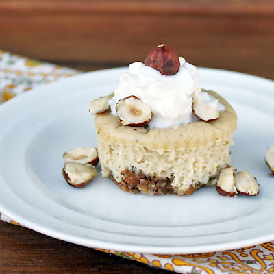 Mini Hazelnut Cheesecakes