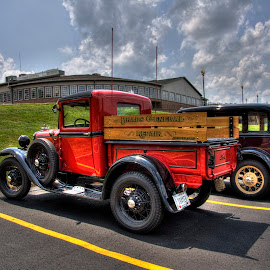 Back In The Days by Terrence Peck - Transportation Automobiles ( clouds, hdr, amish country, 31 ford, reflections )