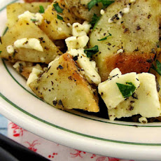 Roasted Greek Potatoes with Feta Cheese and Lemon