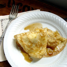 Brown Butter Apple & Ricotta Crepes with Caramel Sauce