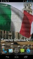 Screenshot of 3D Italy Flag Live Wallpaper