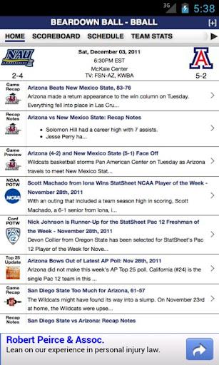 Arizona Football Basketball