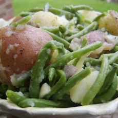 Herbed Red Potatoes and Baby Green Beans