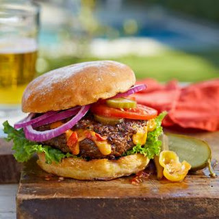 Burgers Stuffed with Pimento Cheese