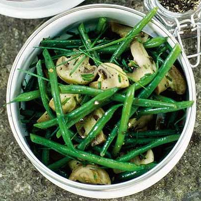Green Beans & Mushrooms With Tangy Soy Dressing