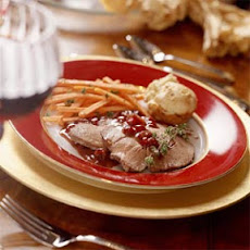 Port-Marinated Tenderloin with Cranberries