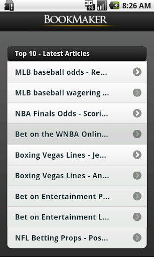 BookMaker Rss Articles Reader