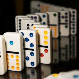 Domino's tiles by Sergio Yorick - Artistic Objects Toys ( domino, colors, artistic objects, object, dominoes )