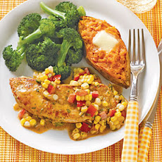Turkey Cutlets with Fresh Corn