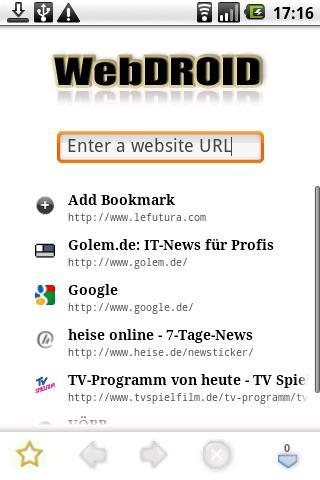 玩免費通訊APP|下載WebDROID 2 Demo app不用錢|硬是要APP