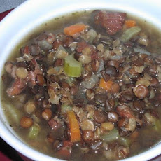 1-Hour Smoky Ham and Lentil Soup