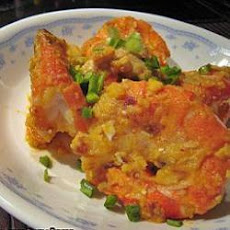 Stir Fried Prawns with Salted Egg Yolks
