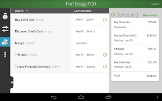Screenshot of FBFCU Mobile Banking