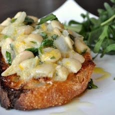 Meyer Lemon and Gigante Bean Open Faced Sandwiches