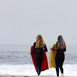 Beach Bums by Wylie Cassinelli - People Street & Candids ( boogie, girls, california, beach, stinson,  )