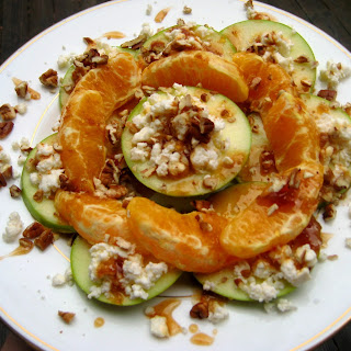 Maple Fig Pecan Apple-Orange Melange with Feta Sprinkles