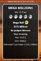 Screenshot of Texas Lottery Results